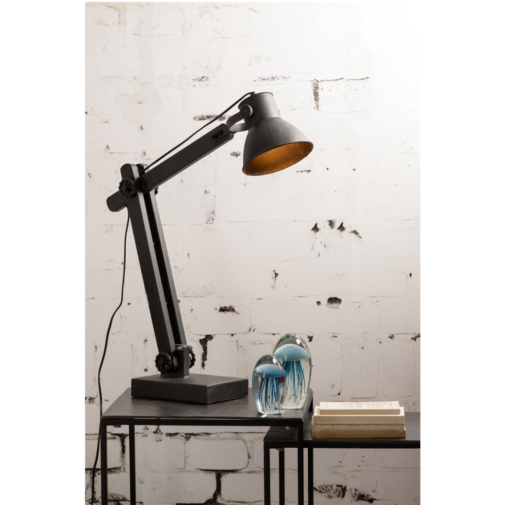 Matt Black Adjustable Desk Lamp 55cm | Annie Mo's