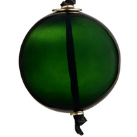 Dark Green Glass Bauble with Suede String - 8cm | Annie Mo's