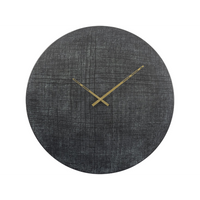 Textured Green and Black Aluminium Wall Clock 76cm | Annie Mo's