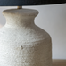 Small Stoneware Lamp with Black Shade 42cm