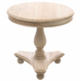Low Round Wine Table with Bun Feet 58cm