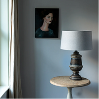 Table Lamp Elodie Flint Grey 55cm