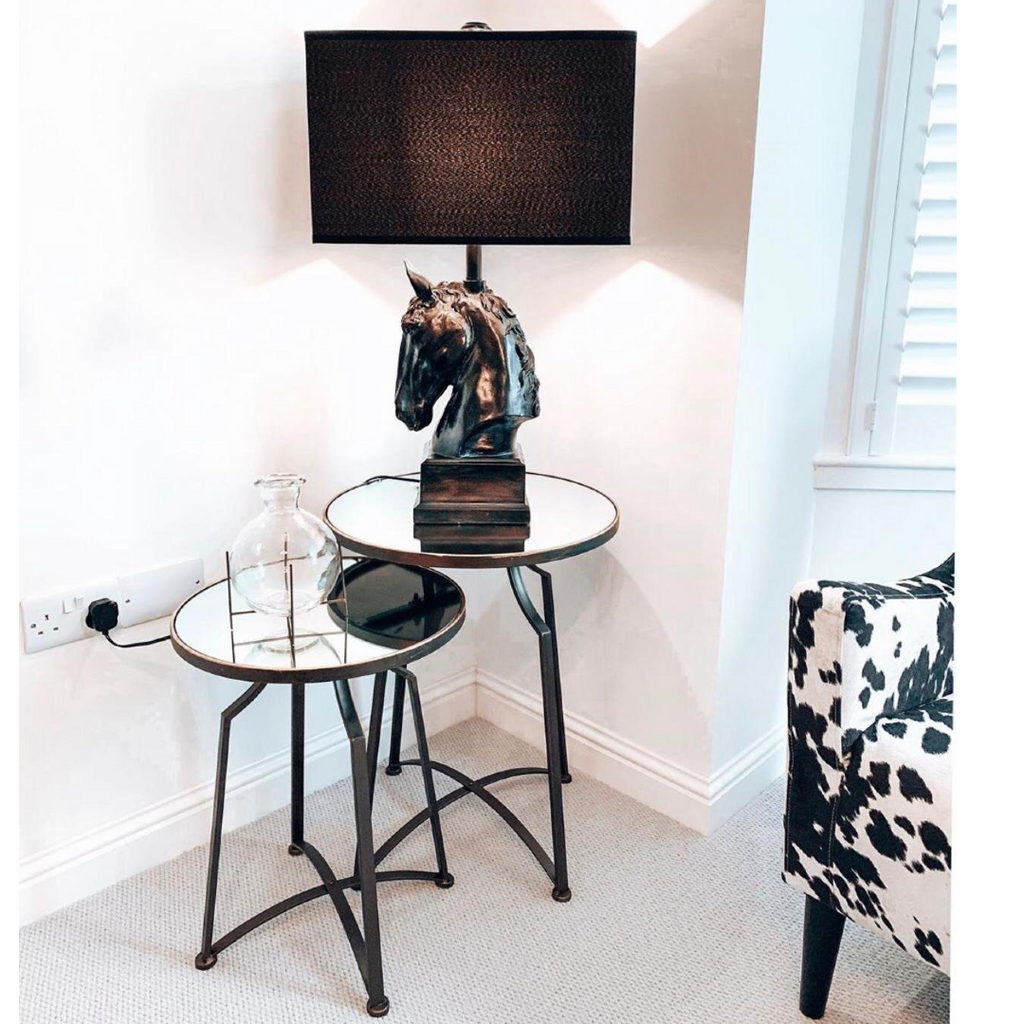 Stallion Table Lamp with Black Shade | Annie Mo's