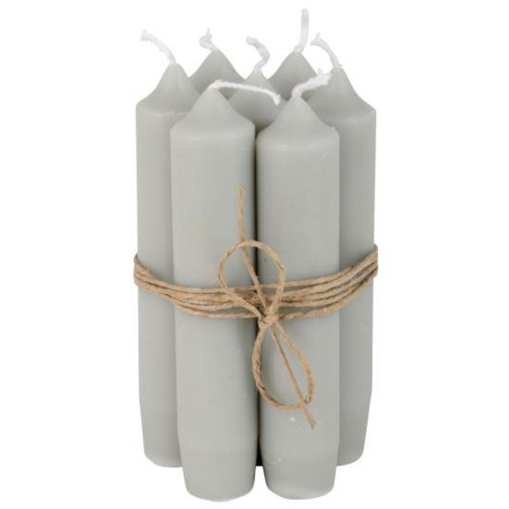 Short Dinner Candles - Grey 11cm | Annie Mo's