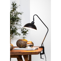 Adjustable Matted Black Desk Lamp with Clamp 69cm | Annie Mo's