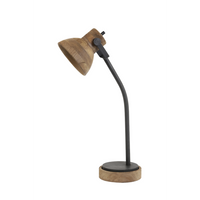 Wood and Metal Adjustable Desk Lamp 64cm | Annie Mo's