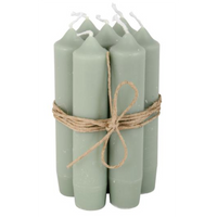 Short Dinner Candles - Dusty Green 11cm | Annie Mo's