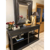 Black Ballater Shelf Console Table