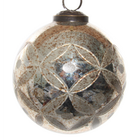 Glass Bauble Antiqued Gold 10cm | Annie Mo's