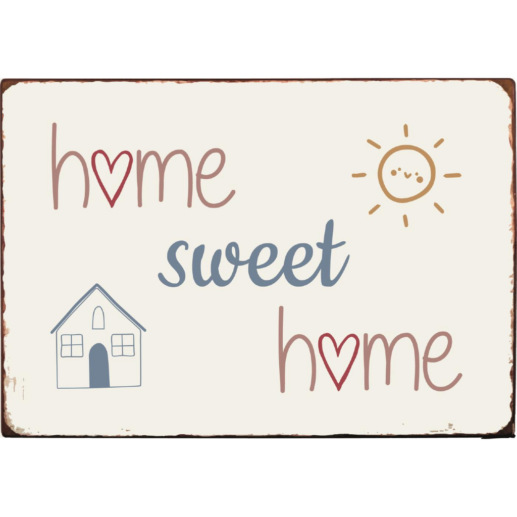 Metal Sign - Home Sweet Home 20cm | Annie Mo's