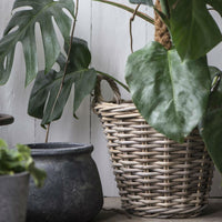 Rattan Basket with Plastic Liner  | Annie Mo's