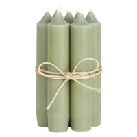 Short Dinner Candles - Olive 11cm | Annie Mo's
