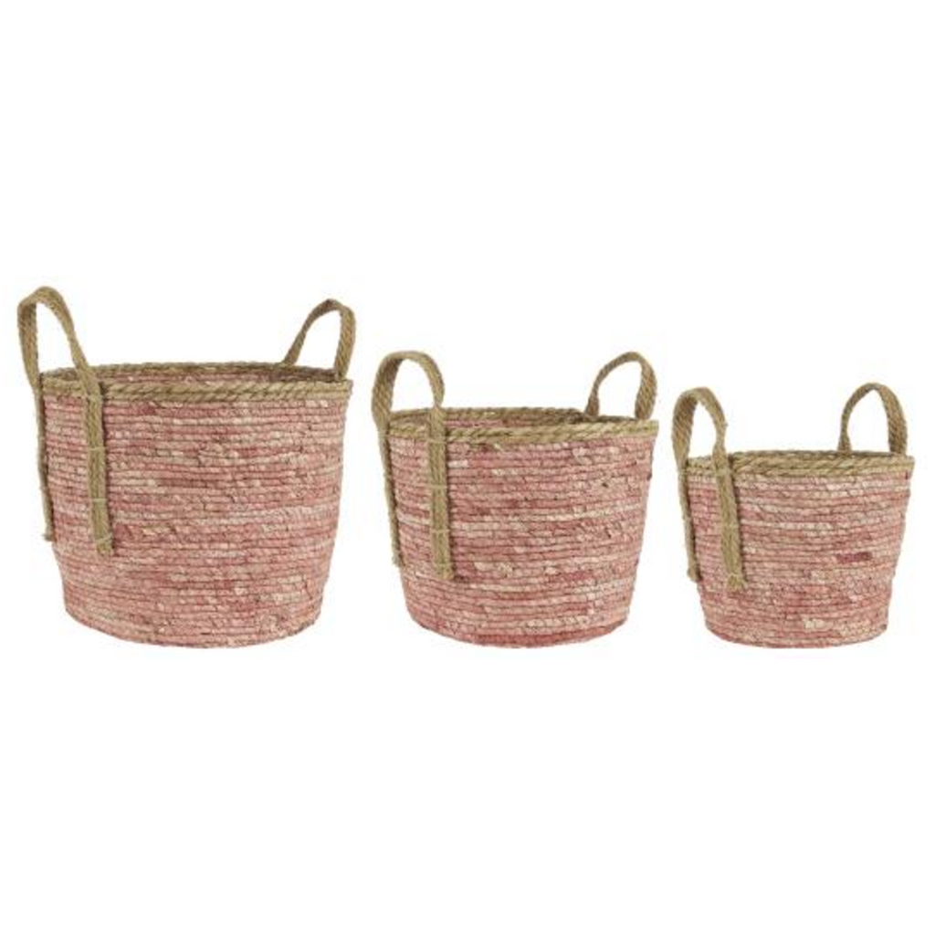 Set of Three Desert Rose Baskets 45cm | Annie Mo's