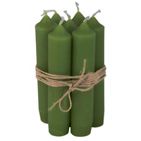 Short Green Dinner Candle 11cm | Annie Mo's