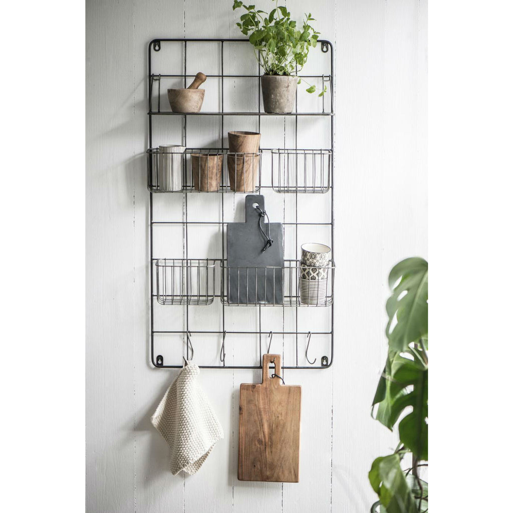 Wall Rack with Shelf Baskets and Hooks | Annie Mo's