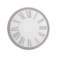 Antiqued Grey Mirrored Wall Clock 68cm | Annie Mo's