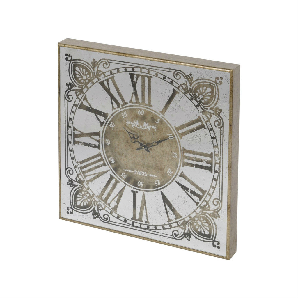 Small square mirrored clock 60cm x 60cm annie mos amipublicfo Image collections