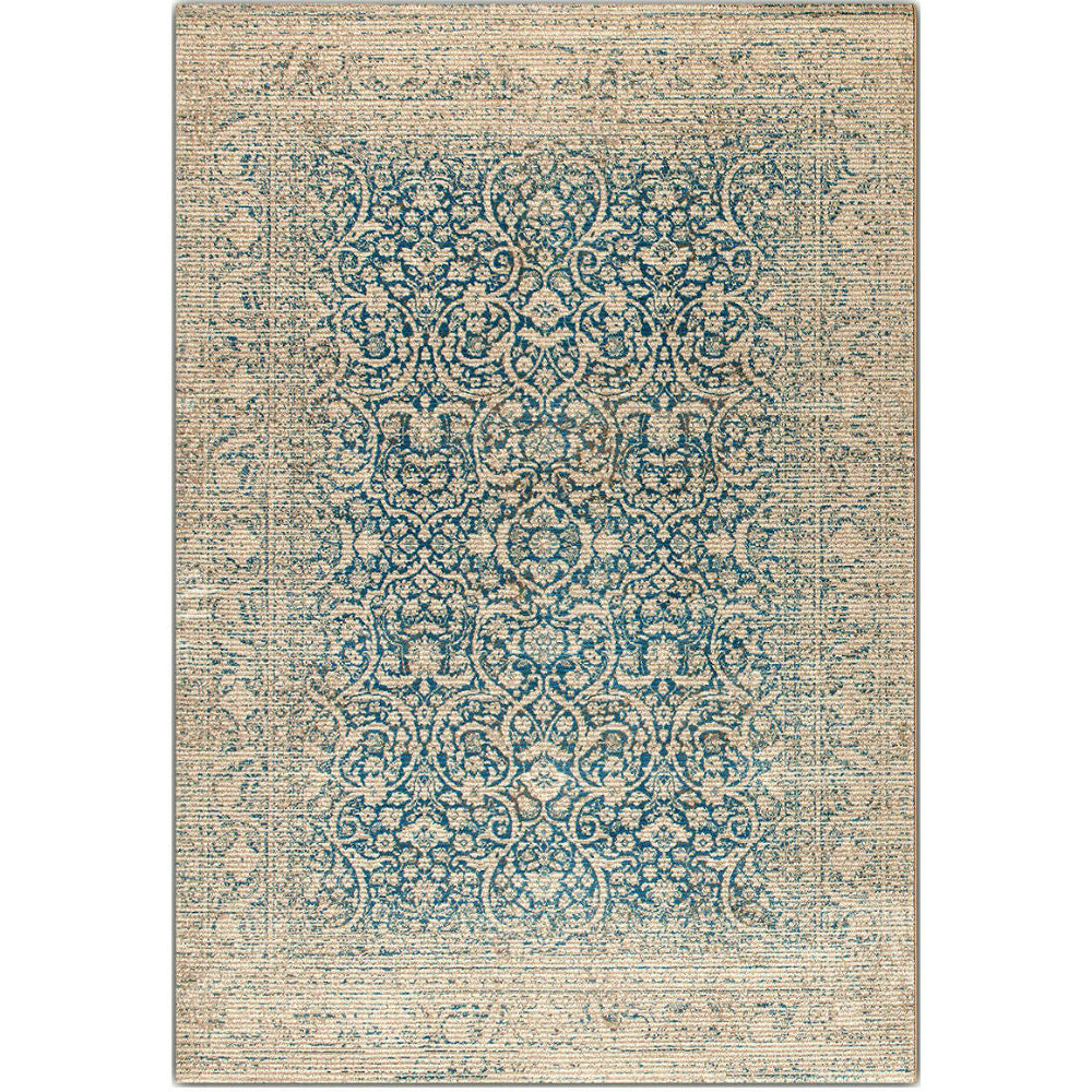 Shabby Chic Grandeur Damask Rugs - Teal | Annie Mo's