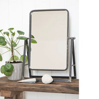 Black Metal Table Top Mirror | Annie Mo's