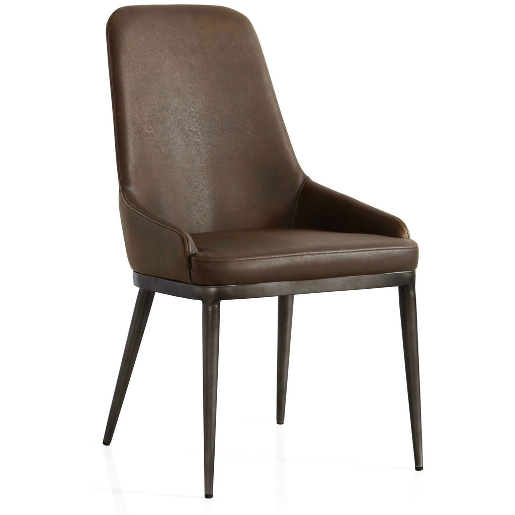 Industrial Dining Chair Retro Contour With Faux Leather