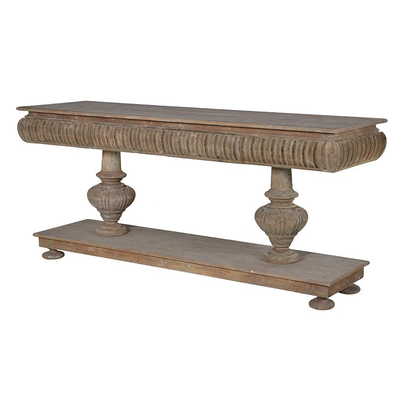 Large Twin Pedestal Console Table | Annie Mo's