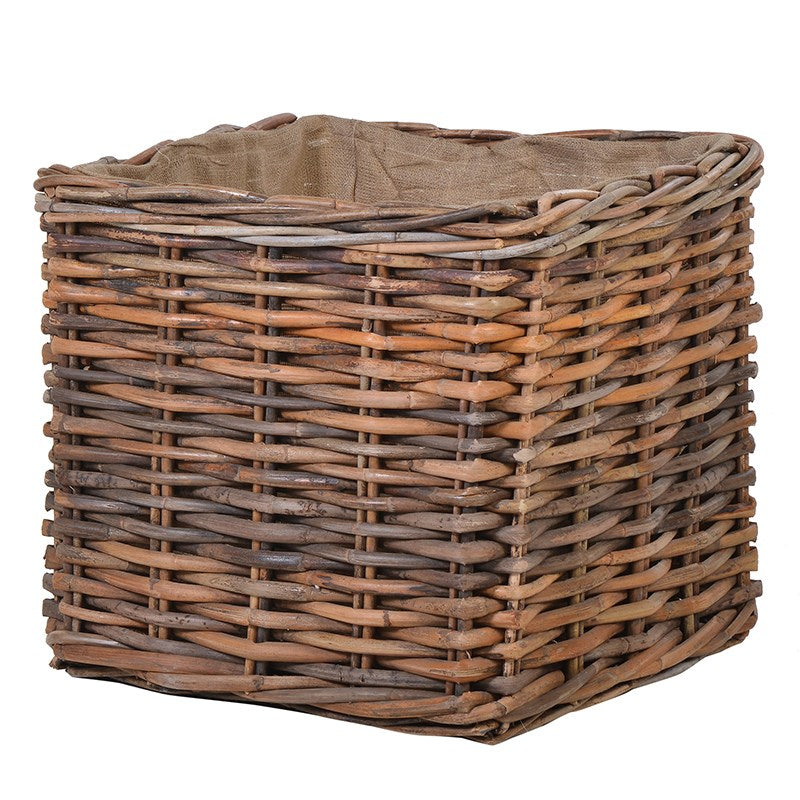 Square Brown Log Basket | Annie Mo's