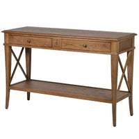 Oak Cross Console Table | Annie Mo's