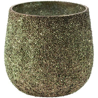 Antique Green Textured Votive 10cm x 10cm | Annie Mo's