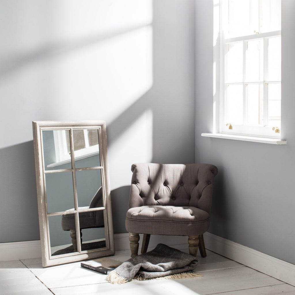 Grey Panel Window Mirror | Annie Mo's