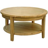 Rhone Oak Round Coffee Table | Annie Mo's