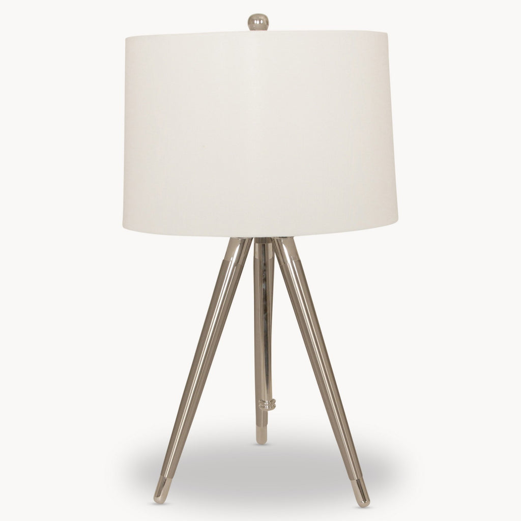 Metal Task Lamp with Linen Shade | Annie Mo's