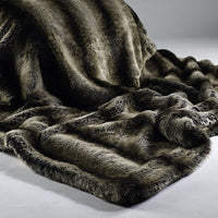 Faux Fur Throw  - Dark Brown Alaska | Annie Mo's