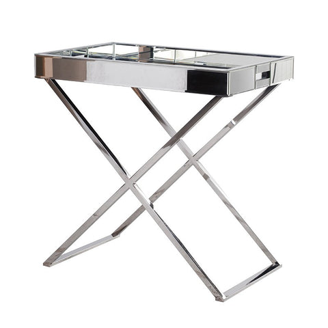 Mirrored Bedside Tray Table | Annie Mo's