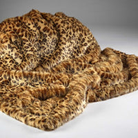 Gold Leopard Faux Fur Throw | Annie Mo's