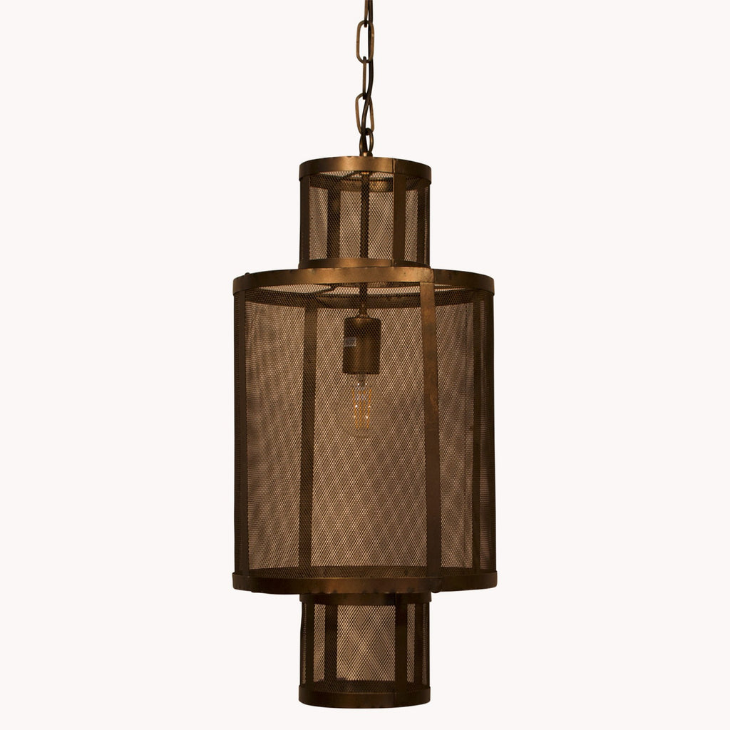 Tall Industrial Short Cylinder Pendant Light 66cm | Annie Mo's