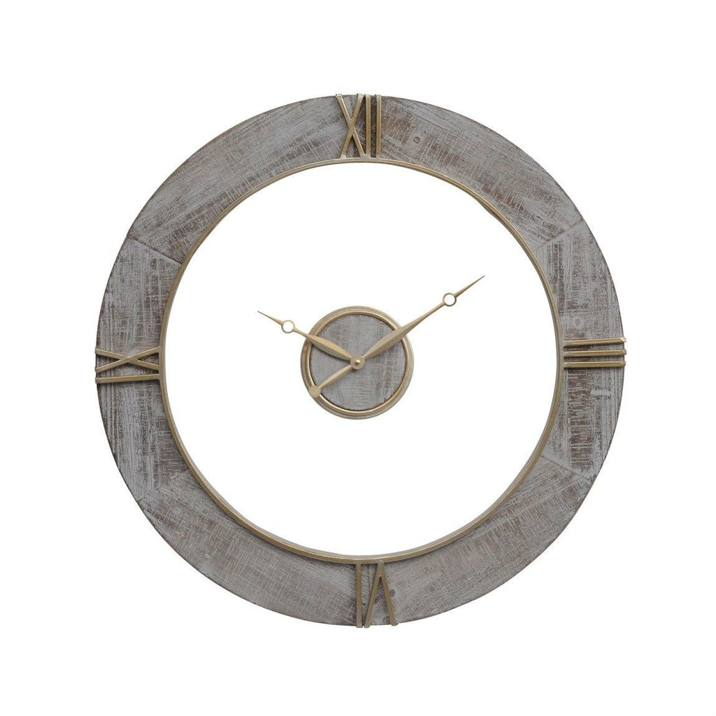 Grey and Copper Floating Clock 70cm
