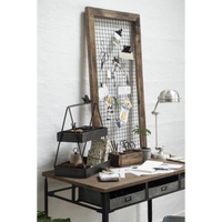 Frame Made from Unique Wood with Metal Grid | Annie Mo's