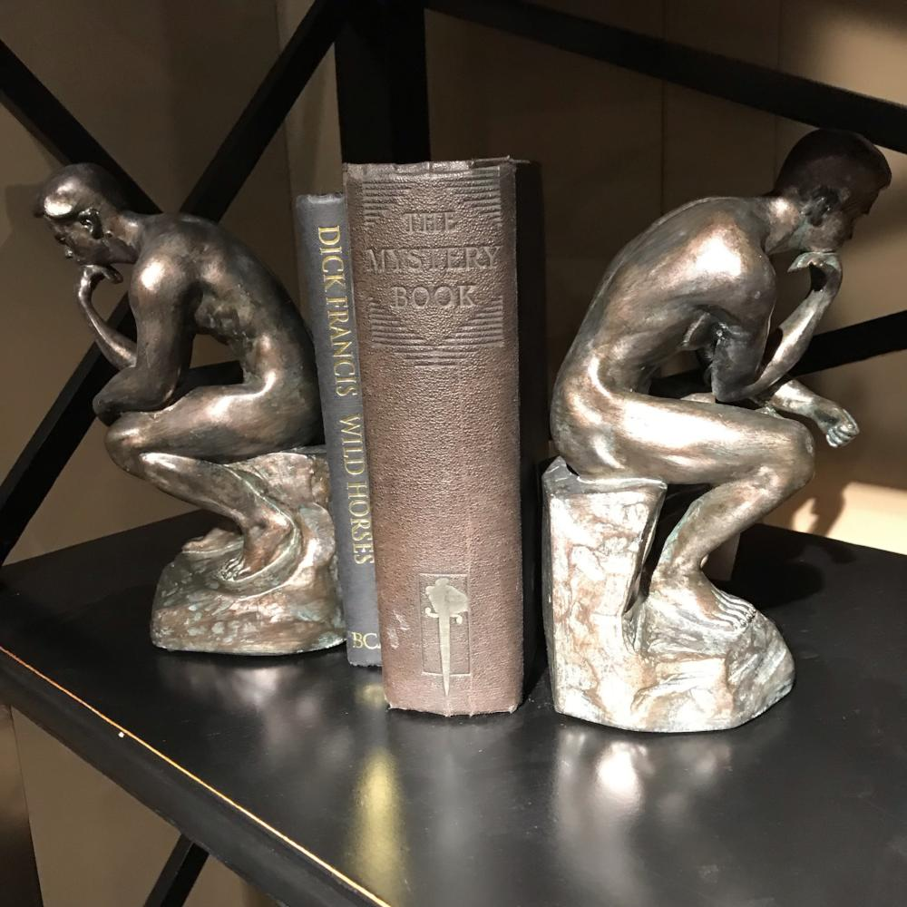 Pair 'of Thinker Bookends | Annie Mo's