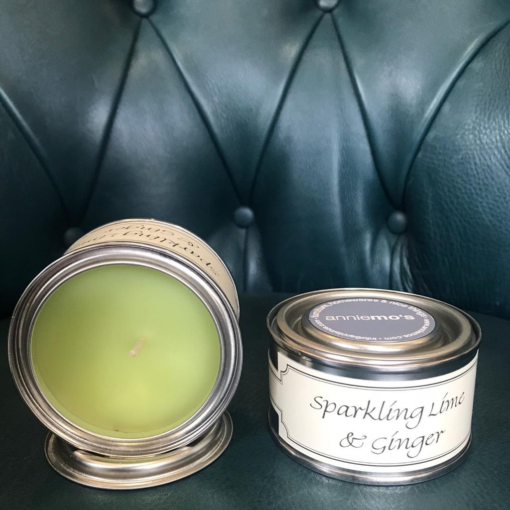 Sparkling Lime and Ginger Annie Mo's Tinned Candle | Annie Mo's