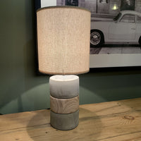 Concrete and Wood Table Lamp with Shade 44cm | Annie Mo's