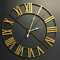 Large Aged Wrought Iron Clock 122cm