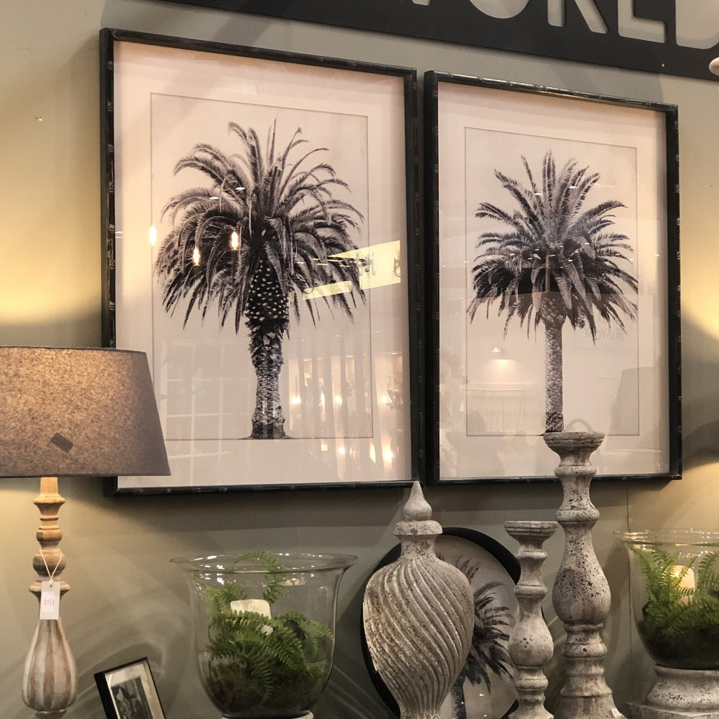 Set of Two Framed Palm Tree Prints 100cm | Annie Mo's