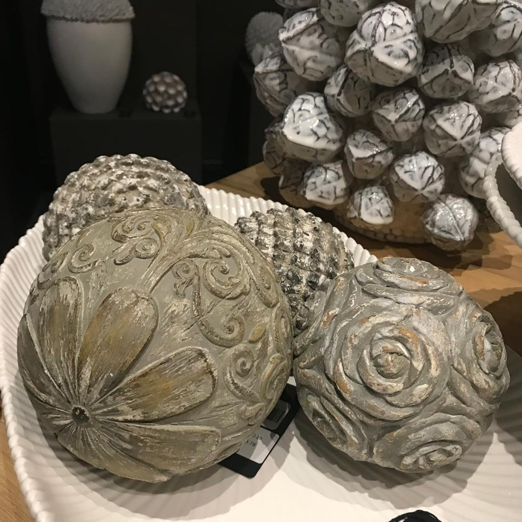 Carved Decorative Ball 15cm | Annie Mo's -1