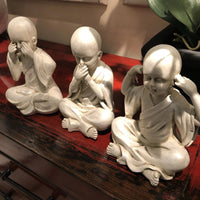 "Set of Three ""No Evil"" Monks 23cm 