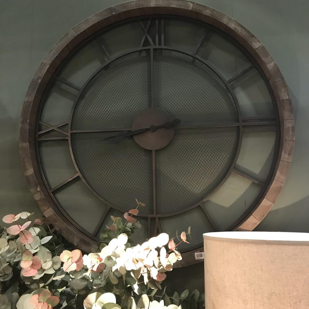 Wooden Frame Wall Clock 121cm