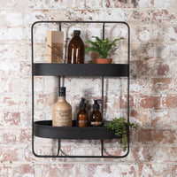 Oval Double Iron Wall Shelf 58cm | Annie Mo's