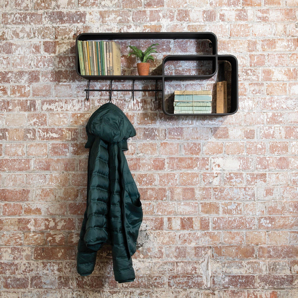 Floating Wall Shelf with Hooks 80cm | Annie Mo's