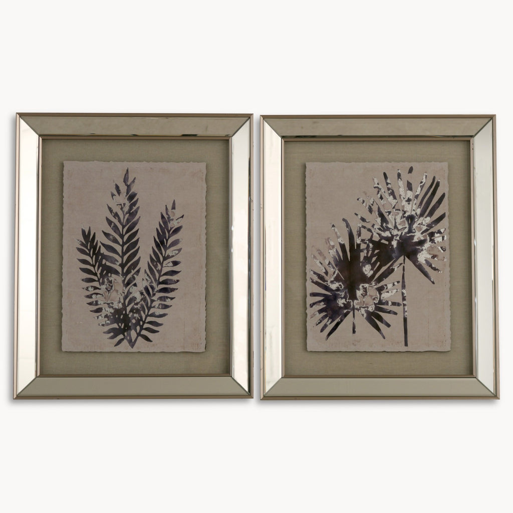 Set of Two Mirror Framed Fern Prints - Set A | Annie Mo's
