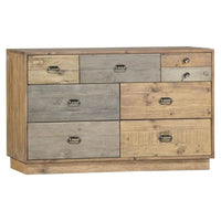 Crieff Reclaimed Pine Seven Drawer Wide Chest