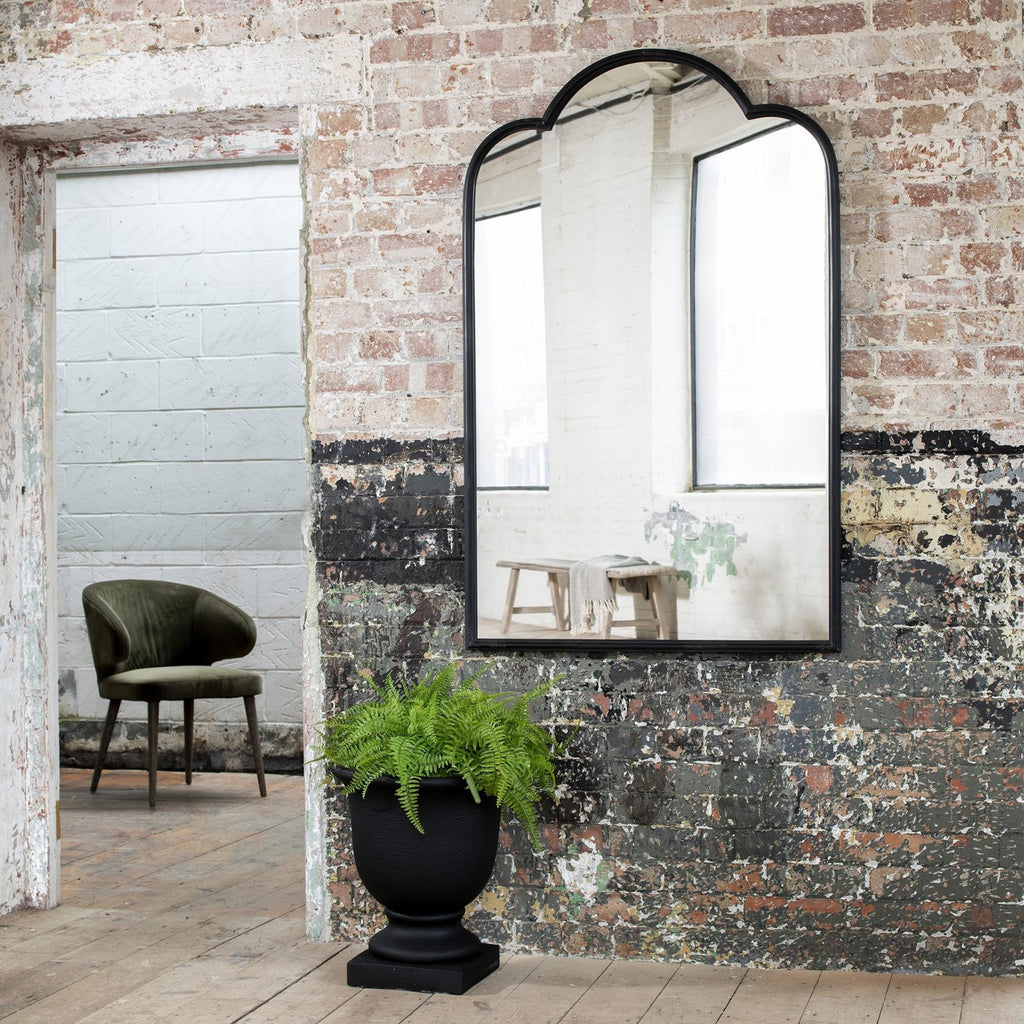 Brockby Industrial Black Iron Mirror 140cm | Annie Mo's